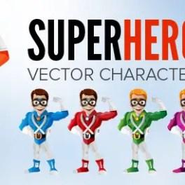 smiling-superhero-character-free-vector