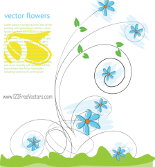 168-beautiful-flowers-vector-background-free