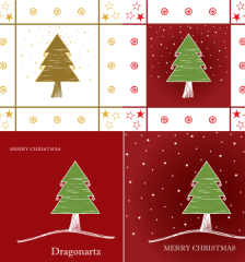 169-merry-christmas-greeting-card-design-tree-twinkling-stars-vector