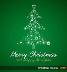 191-free-christmas-tree-green-background-vector-art