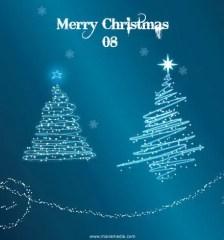 281-sparkle-christmas-tree-vector-snow-wallpaper