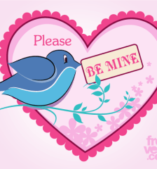 501-be-mine-valentines-day-card-vector-template