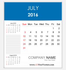 editable-calendar-july-2016-free-vector