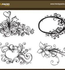 130-free-hand-drawn-vector-ornaments