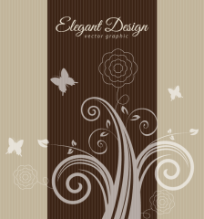 284-elegant-flowers-brown-design-background-vector