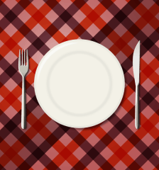 079-menu-design-checkered-tablecloth-background-fork-knife
