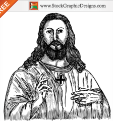 034-jesus-christ-hand-drawn-free-vector-l