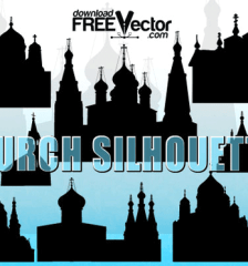 038-free-vector-christian-church-silhouettes-l