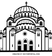 068-church-vector-image