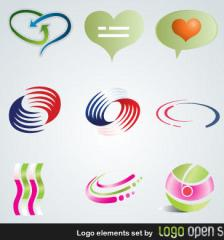 086-logo-elements-free-vector-set
