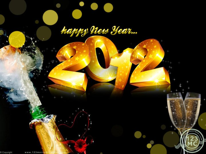 Happy New Year 2012 Wallpaper With Champagne. 1024 x 768.Happy New Year Animated Gif