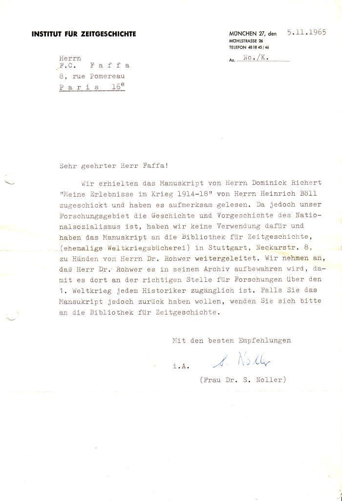 heinrich Böll courrier