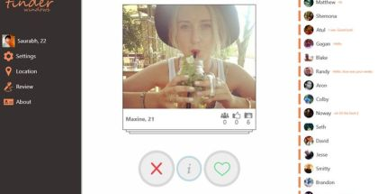 Tinder for Windows, WP version of Tinder, Dating apps on Windows Phone