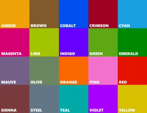 Lots of Pretty Colours found in Windows Phone 8 SDK