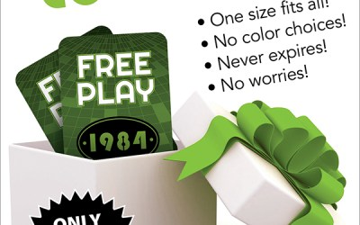 FREE PLAY card, the perfect GIFT!