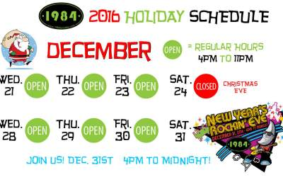 Holiday Hours for December