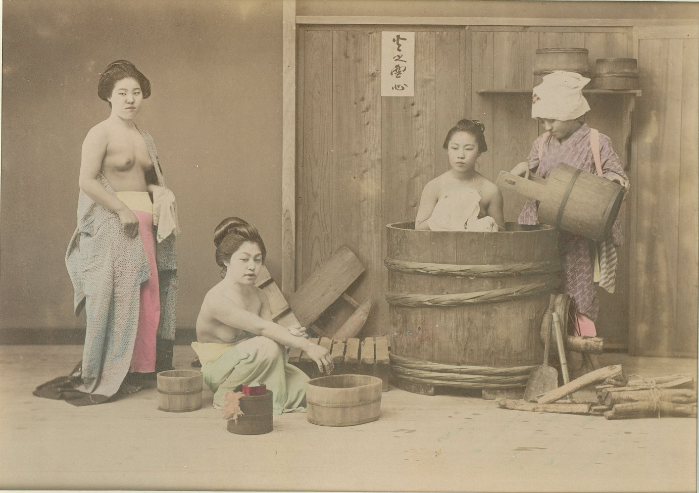 Impeccable Bath Japanese Bath Century Original Photographs Japanese Bath House Ago Japanese Bath House Sf houzz-03 Japanese Bath House