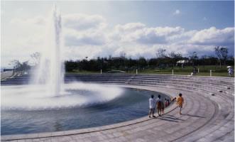 舞洲緑地の噴水