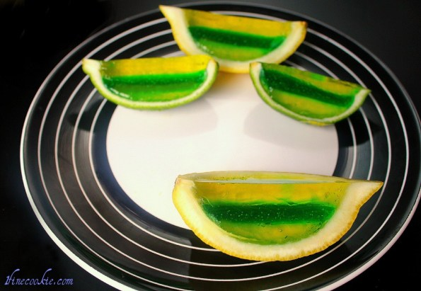 jello shot lime and lemon wedges