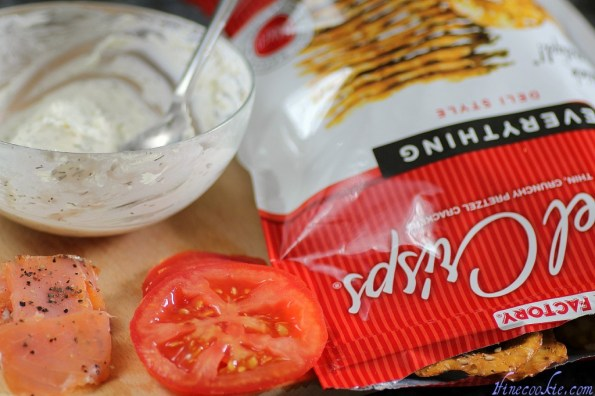 Ingredients for New York Everything Bagel Pretzel Crisp
