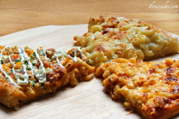 Macaroni and cheese pizza 3