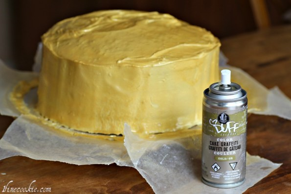 if you like, spray with a gold edible spray