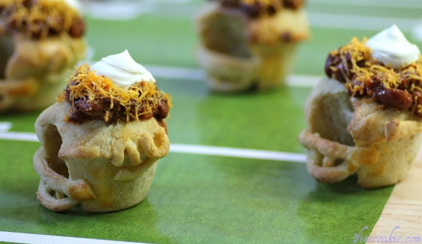 football helmet savory cupcakes pretzel soup super bowl patriots giants chili stew chowder sports party theme boys men hearty food recipe