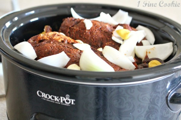 apple butter, pulled pork, slow cooker pulled pork, slow cooker, crock pot, recipes, pickles, white barbecue sauce, sweet potato fries, cole slaw, bacon, home made, barbecue sauce, without a smoker, superbowl, football, tailgate, tailgating, easy, dry rub, wet rub, leaning tower, appetizer, finger food, menu, meat drippings, onion, garlic, pork shoulder, pork butt, boston butt, slow cook, liquid smoke, mac and cheese, pulled pork sandwiches, sliders, sandwiches,