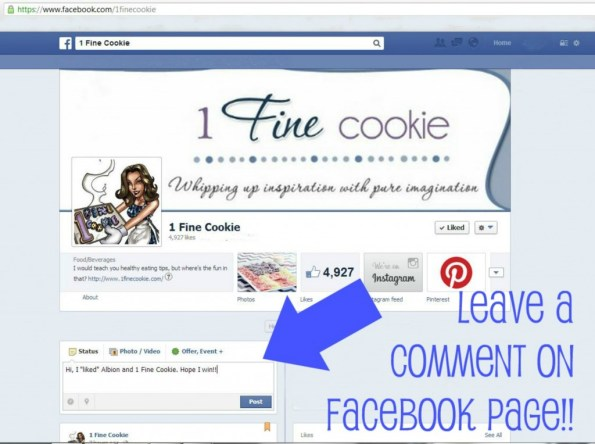 Albion  1 Fine Cookie Facebook