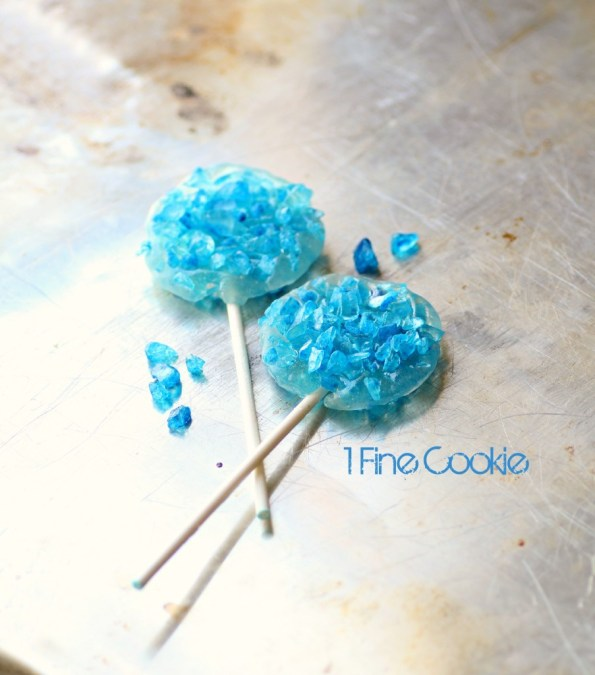 Breaking Bad Science Rock Candy Lollipops by 1 Fine Cookie, Breaking Bad, scientist, science, rock candy, how to make, diy, ring, jewelry, pop, blue, rainbow, colorful, party, theme, ideas, meth, walt, jessie, candy, recipe, food, dessert, cute, party, theme, wearable, diy, food, craft,