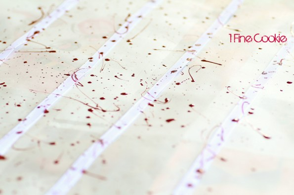 How to Make Blood Splatter Ribbons by 1 Fine Cookie