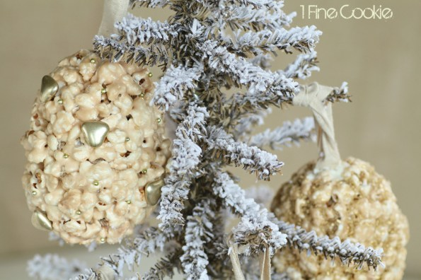 DIY Popcorn Ormanet Balls by 1 Fne Cookie,  flavored, popcorn, ball, treats, ornaments, hollow, filled, treat, hanging, gold, silver, holiday, thanksgiving, new year's eve, new years, christmas, hanukkah, edible, cute, ideas, party, theme, craft, diy, pretty, tips, how, to, make, do it yourself, recipe, recipes, sweet, chocolate, caramel, vegetable saver, uses, gelt, paper, chocolate, candy, toy, trinket,
