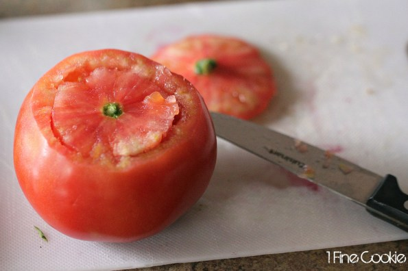 cut tomato, Tomato, mozzarella, cups, bowl, appetizer, healthy, recipes, recipe, balls, cherry, large, basil, balsamic, vinaigrette, oil,  ideas, finger, food, portable, new, year's, resolution, diet, olive, basil, herbs,  scoop, how to, pulp, inside, stuffed, Italian,