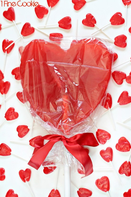 DIY Homemade Giant Heart Lollipop Recipe by 1 Fine Cookie, giant, large, xl, lollipop, cherry, red, sucker, candy, candy, mold, powdered, sugar, confectioner's, make, how to, diy, hack, pimp, candy, heart, shaped, lollies, lolly, unique, valentine's, birthday, gift, present, red, valentine, wedding, engagement, homemade, home, sugar, boil, candy, thermometer, sweets, dessert, recipe, copycat, mother's day,