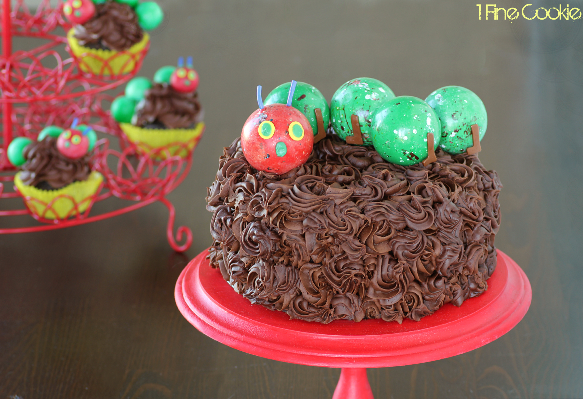 Hungry Caterpillar Birthday Cake Topper