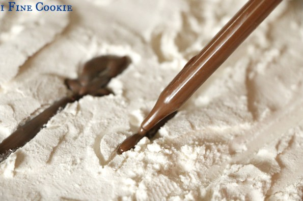 Molding chocolate at home, How to, DIY, homemade, home, make, chocolate, mold, easy, cheap, flour, powdered, sugar, confectioners, swords, object, hack, silicone, affordable,