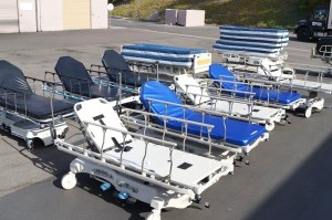 We buy and sell medical gurneys, beds, stretchers and hospital furniture.