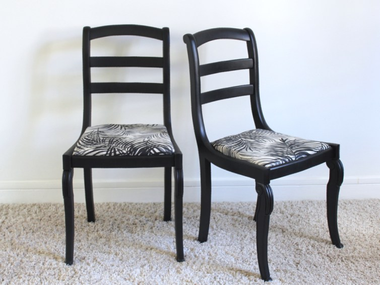 Chaises style Restauration relookées