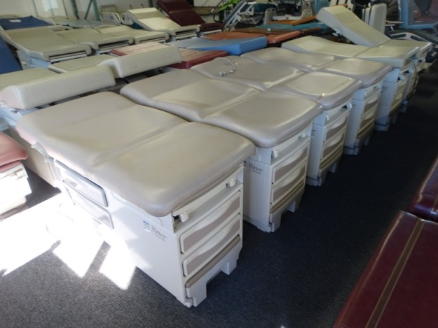 Ritter 204 manual exam tables for sale at our San Diego medical equipment showroom warehouse.