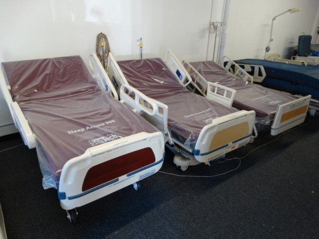 Refurbished Stryker hospital beds and Hill Rom Hospital beds - full electric, adjustable beds for sale in San Diego