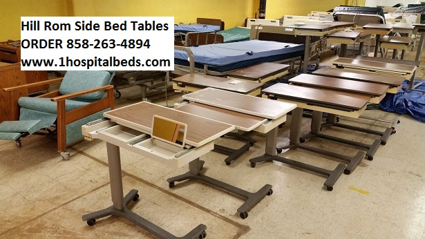 Hill Rom Patient Mate Jr Side Bed Tables for Sale