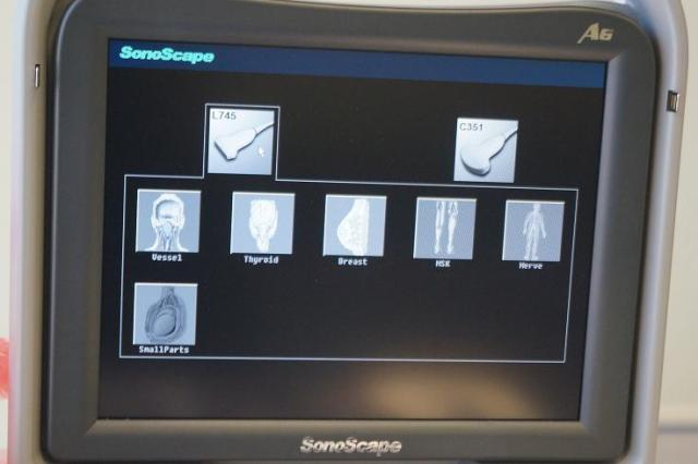 Sonoscape A6 portable ultrasound linear probe presets