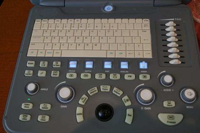1 Sonoscape A6 portable ultrasound machine keyboard