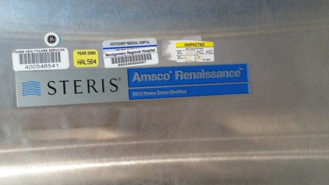 Amsco Steris 3013 Prevac Steam Sterilizer