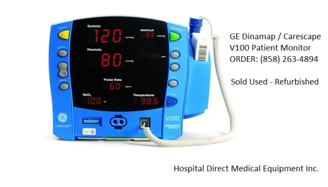 GE Dinamap CARESCAPE V100 vital sign patient monitor for sale (858) 263-4894
