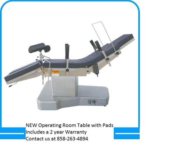 YC D1 operating table sold brand new with a 1 year warranty 858-263-4894