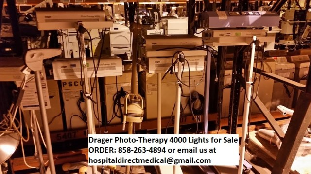 Drager Photo-Therapy 4000 Lights for Sale ORDER: 858-263-4894 or email us at hospitaldirectmedical@gmail.com