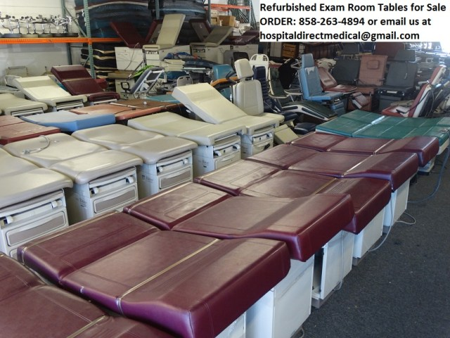 Exam Tables for Sale by Ritter, Midmark, Joerns and Brewer ORDER 858-263-4894 or email us at hospitaldirectmedical@gmail.com