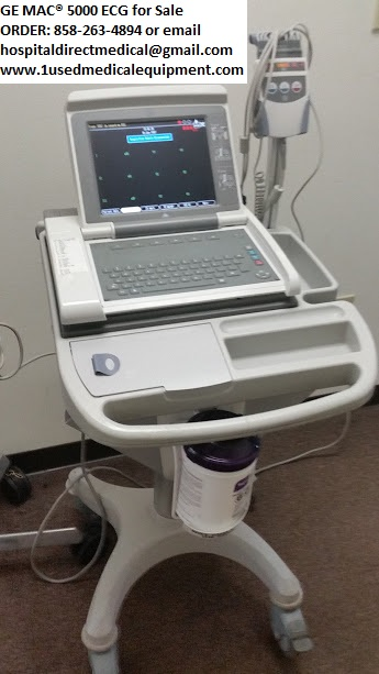 GE MAC 5000 ECG EKG for Sale Order: 858-263-4894 or email us at hospitaldirectmedical@gmail.com