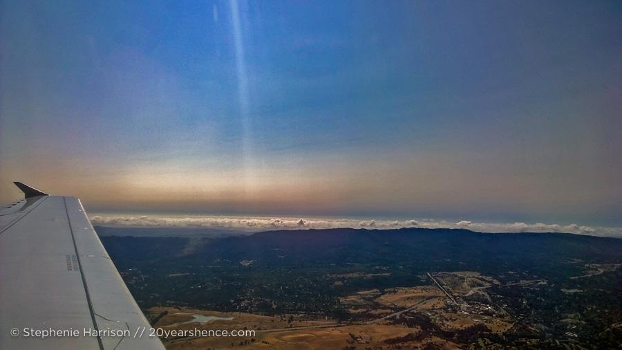 In the sky over California